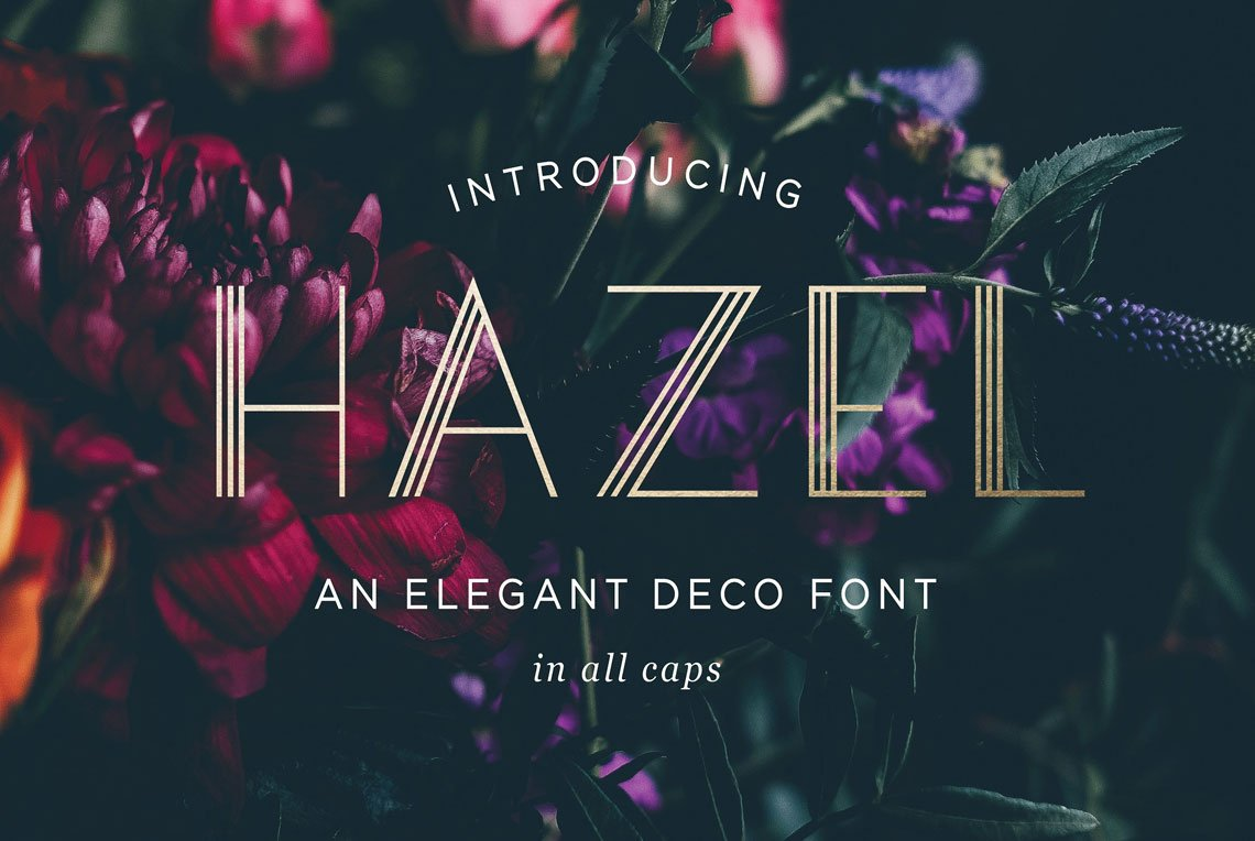 Hazel Deco Font by Leslie Ray