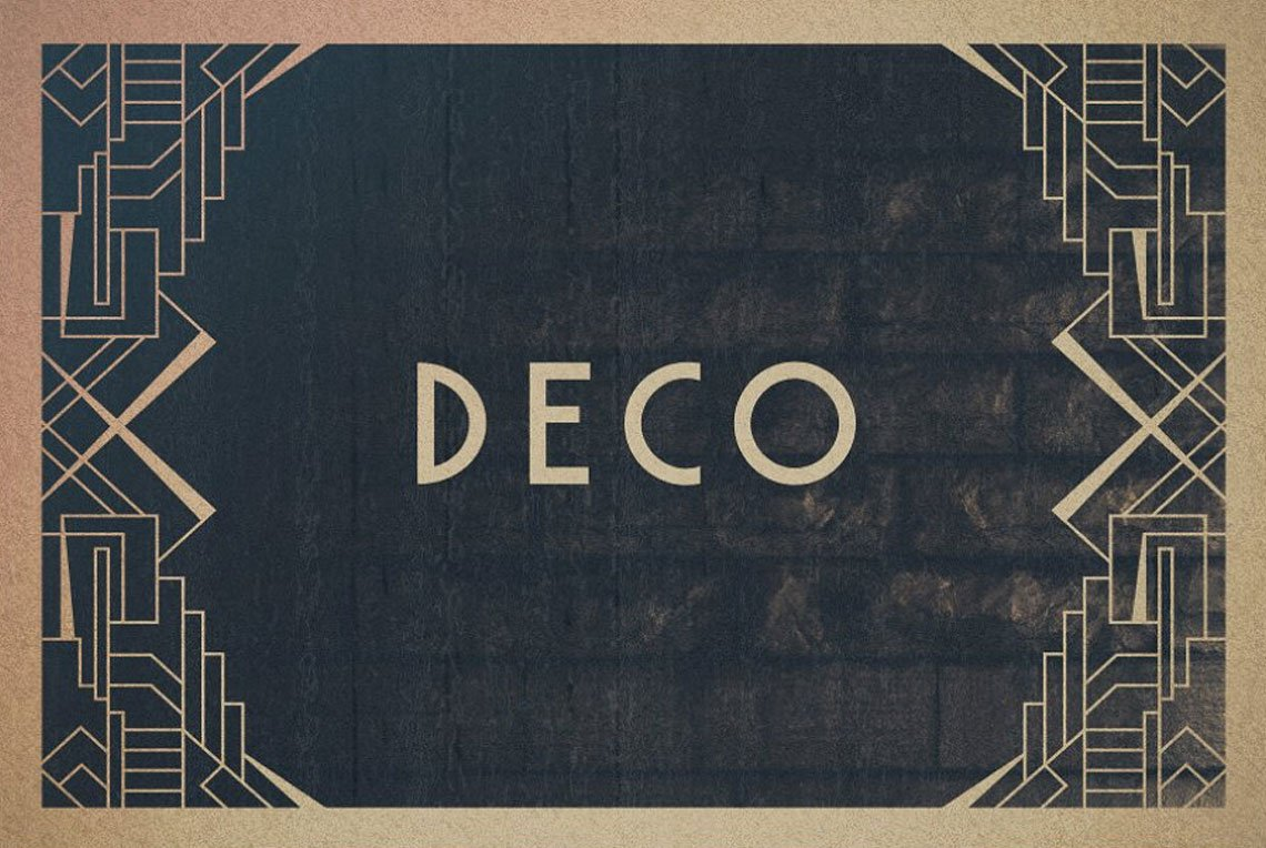 16 Art Deco Borders by Tugcu Design Co.