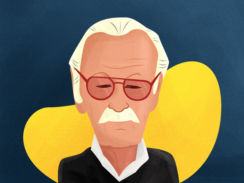 RIP Stan Lee by BrandMills Studios via Dribbble