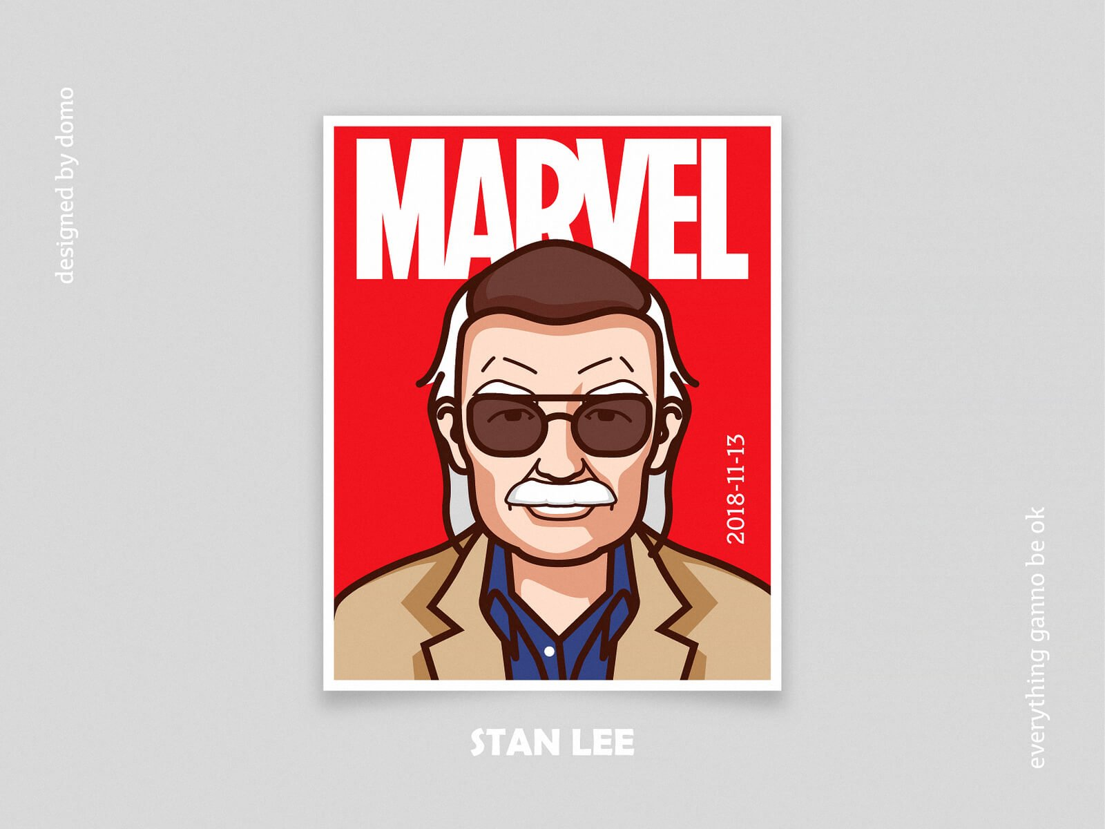 Stan lee by Domo Z via Dribbble