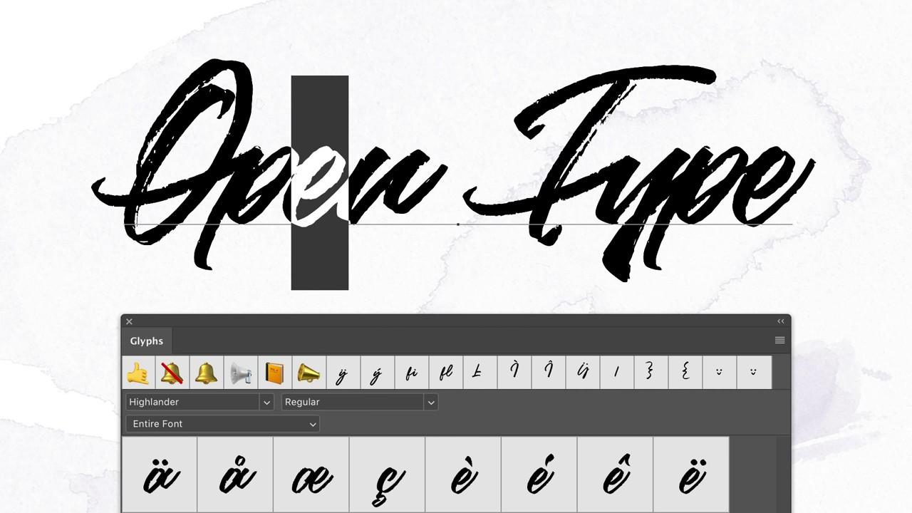 photoshop glyphs off