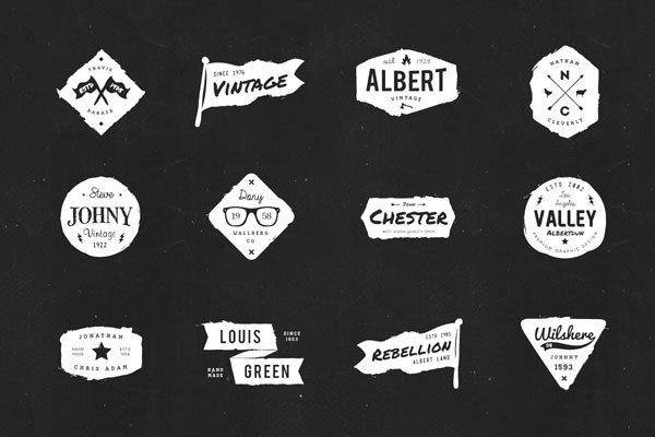20 Retro Ink Logos