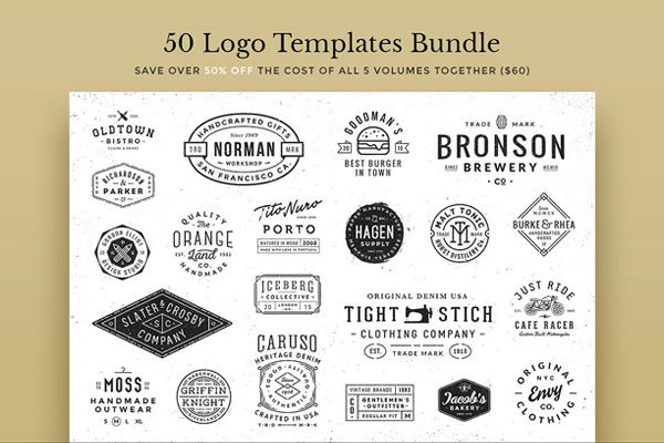 50 Logo Templates Bundle