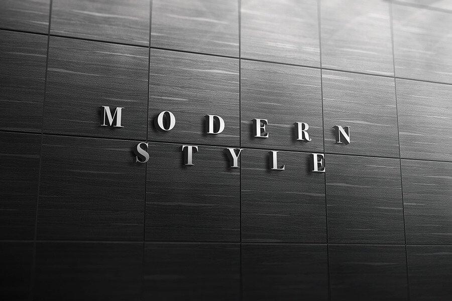 3D logo signage wall mockup vol.1