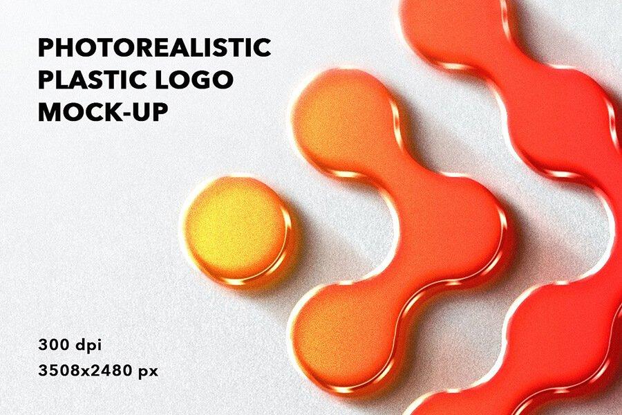 Plastic logo mockup wall mount badge