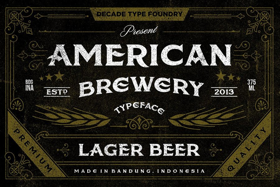 American Brewery Rough Font