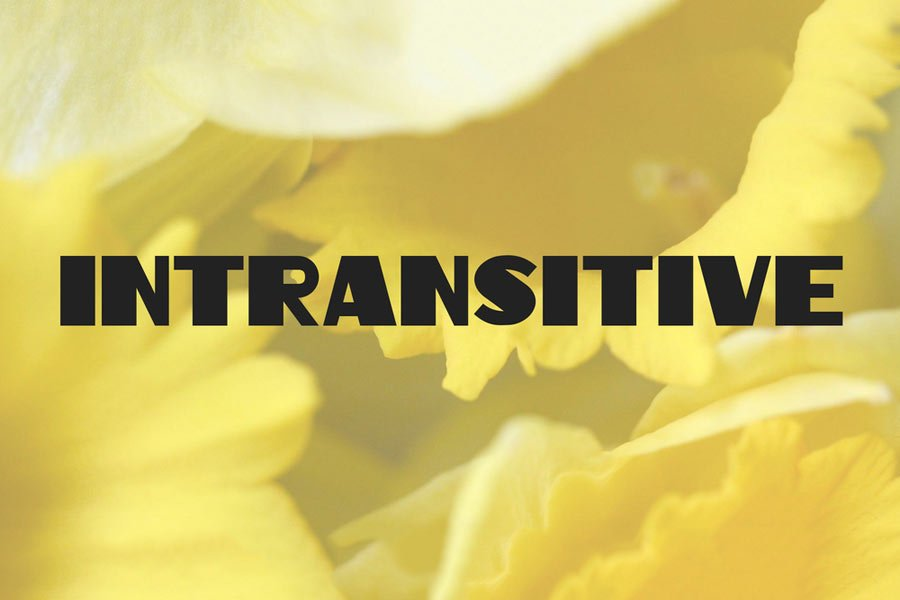 Intransitive Font
