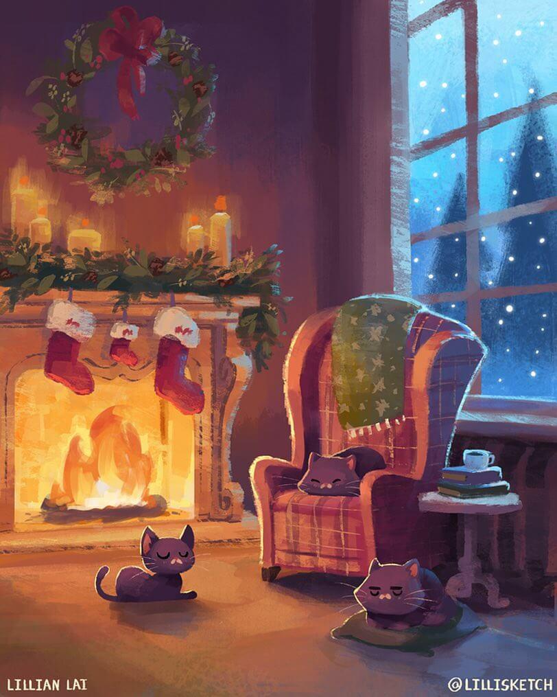 A cozy Christmas by Lillian Lai via Instagram