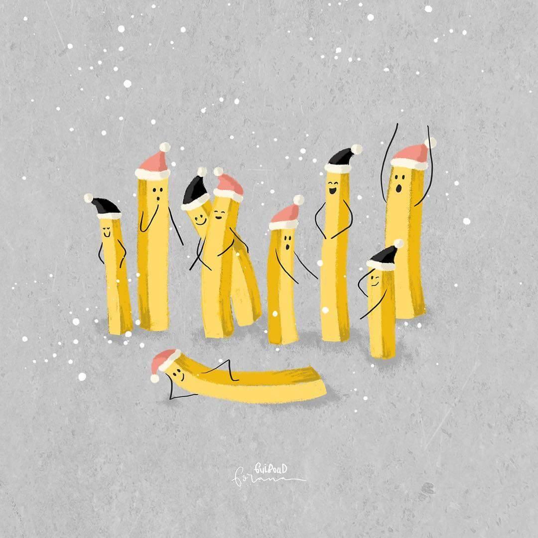 Christmas Fries by GORANA Guiboud via Instagram
