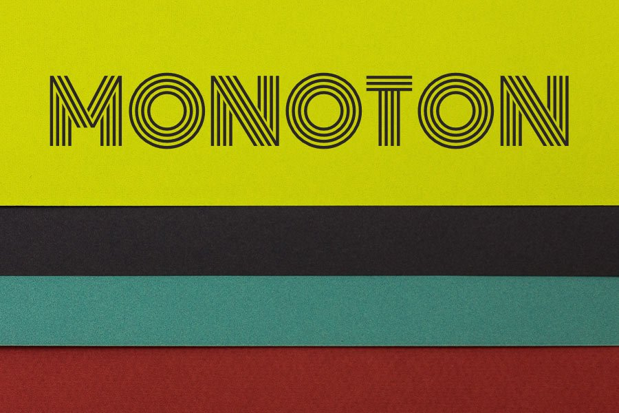 Monoton Display Font