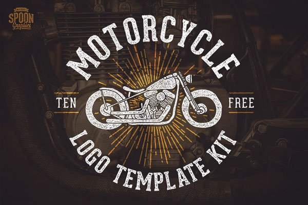 Free Motorcycle Vector Graphics & Logo Template Kit