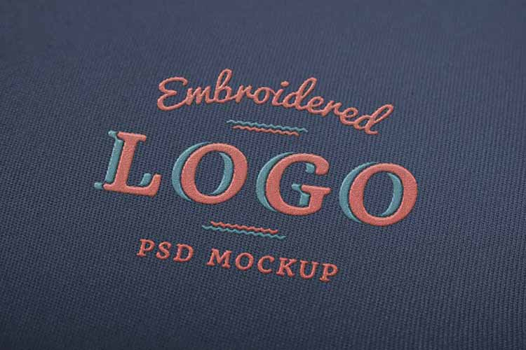 Embroidered Free Logo Mockup