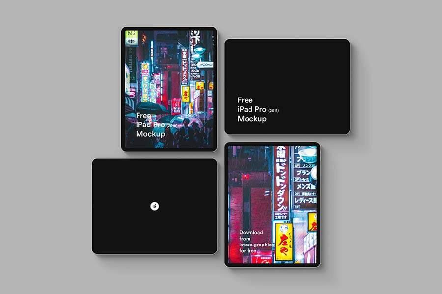 Flat iPad Mockup PSD