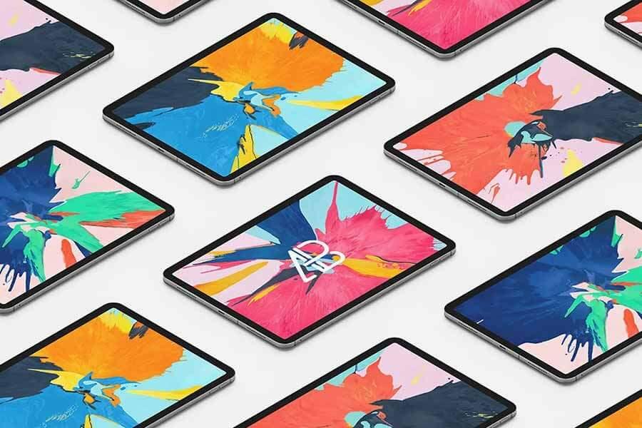 Isometric iPad Pro Mockup