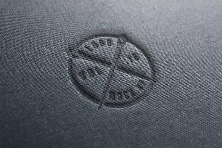 Linen Logo Mockup Template