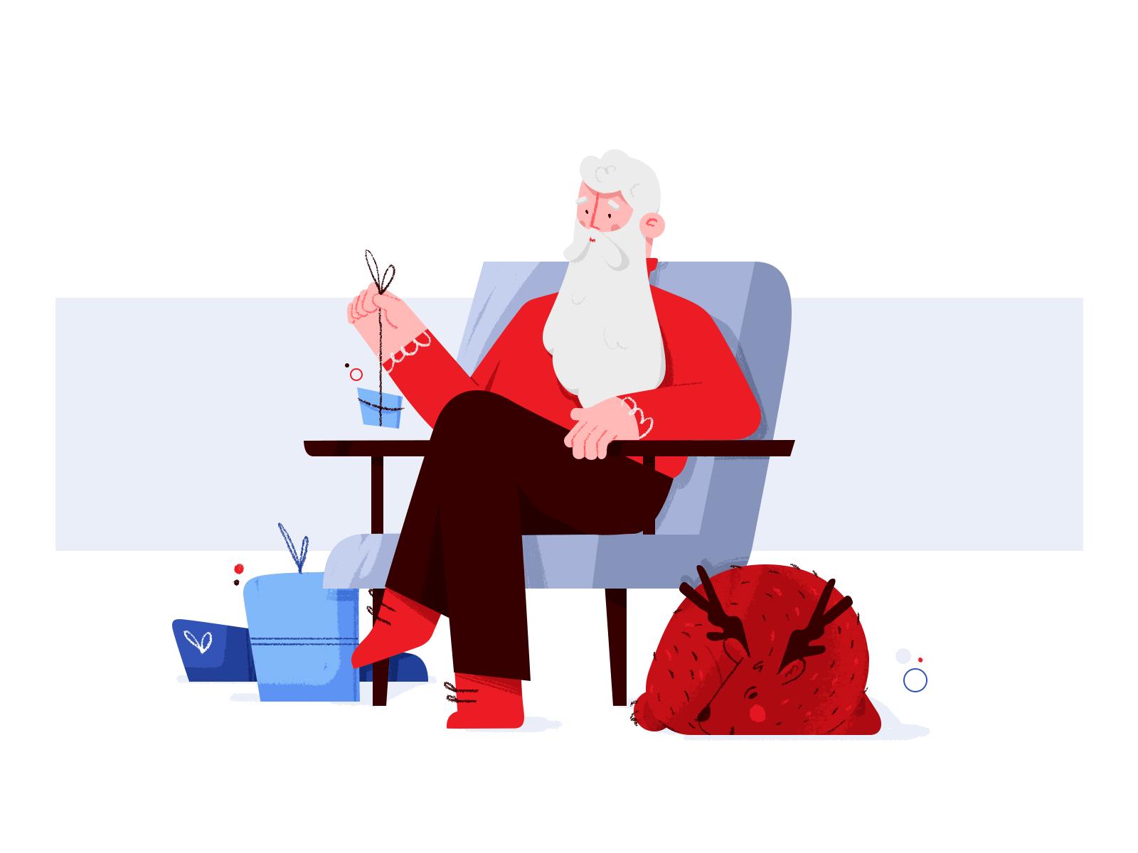 Resting Santa by Ilona Rybak