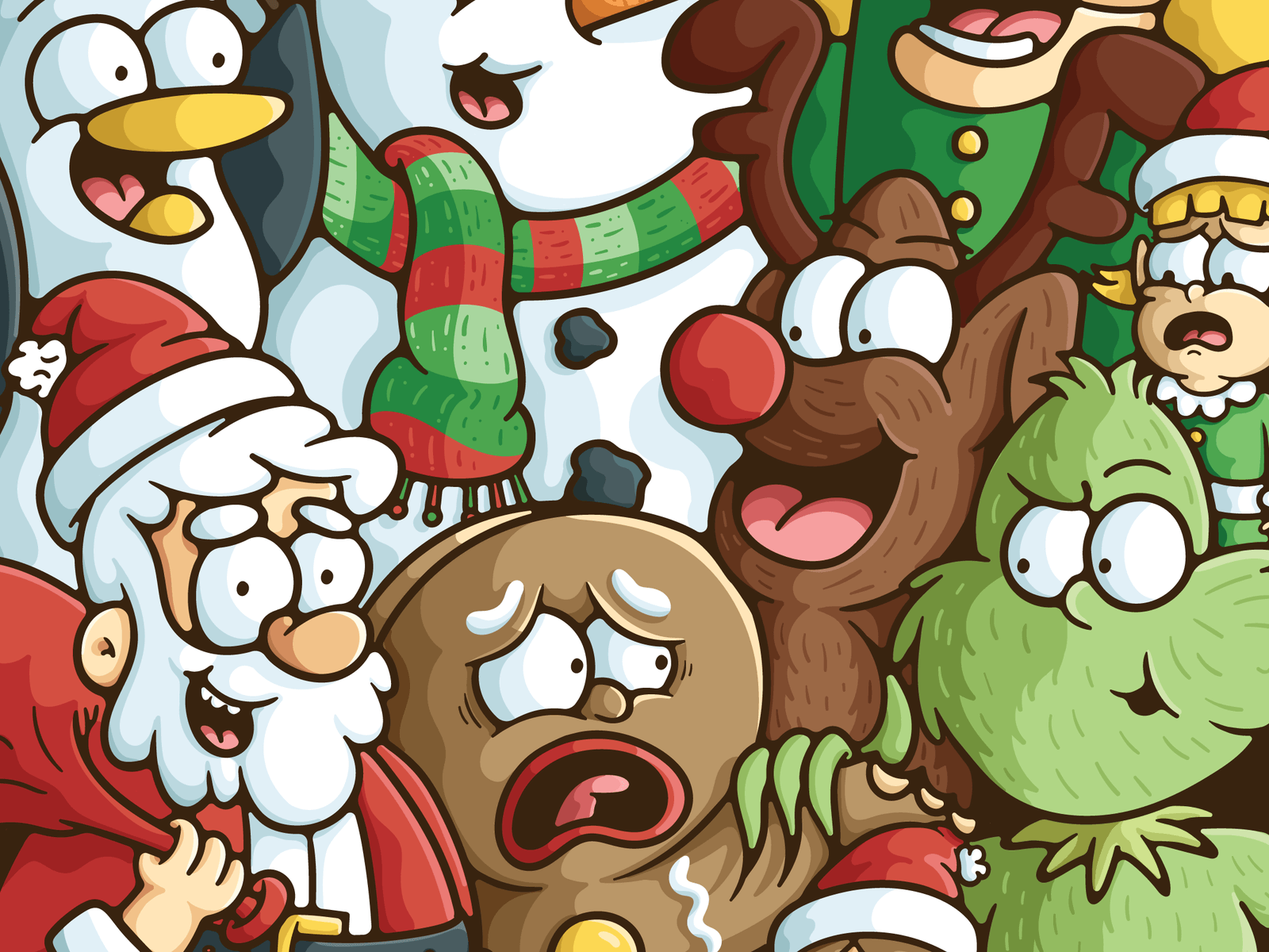Christmas Character Mashup by Mackenzie Child via Dribbble