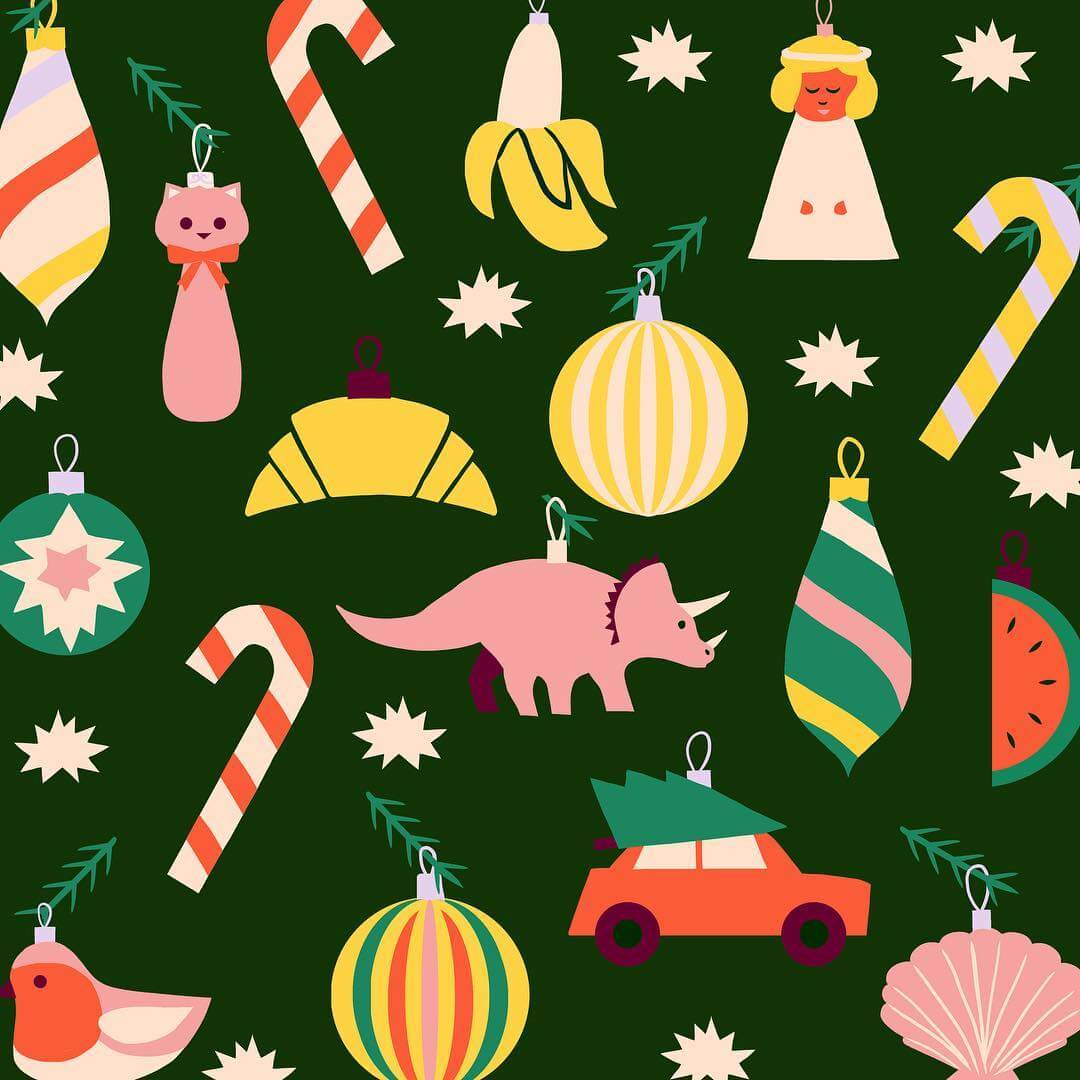 Christmas Tree Pattern by Naomi Wilkinson via Instagram