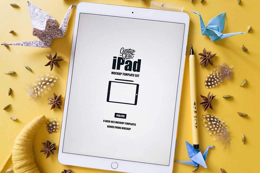 iPad Template PSD Set