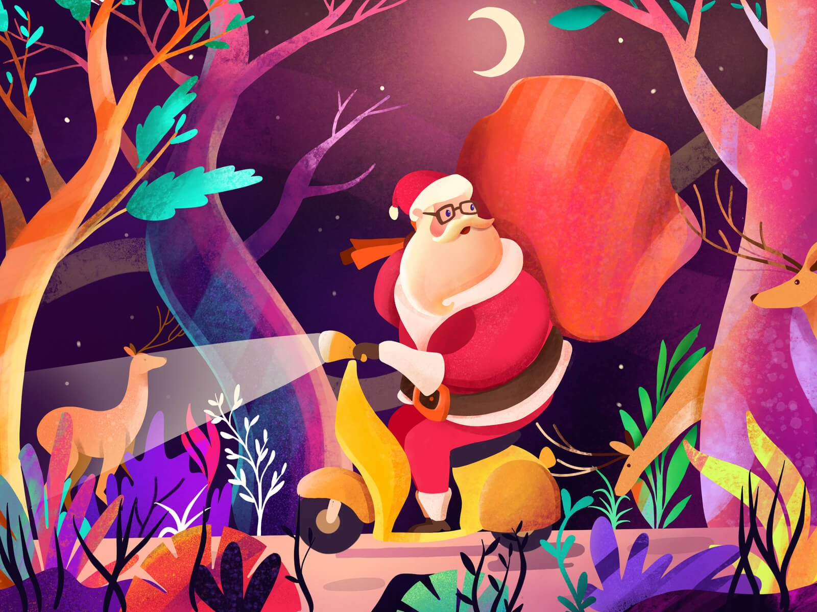 Uh Oh! Santa's Lost by Brightscout via Dribbble