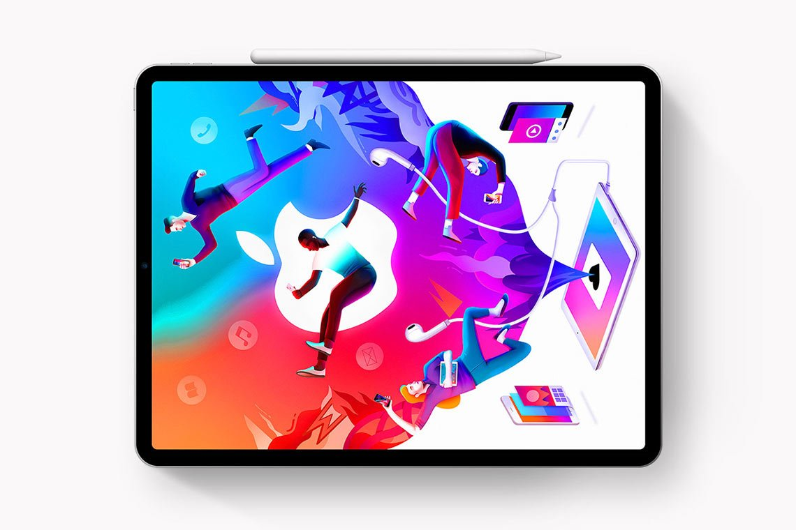 iPad Pro + Pencil 2018 Mockup