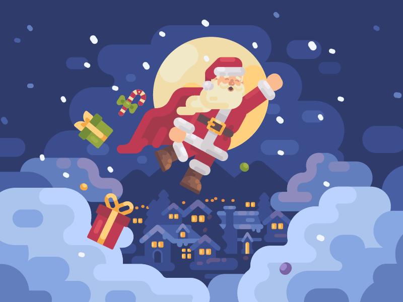 Super Santa by Ivan Dubovik via Dribbble