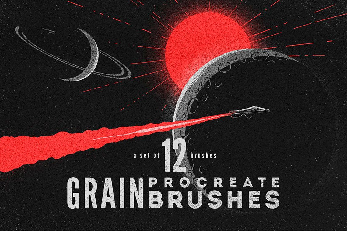 Free Procreate Grain Brushes by MiksKS