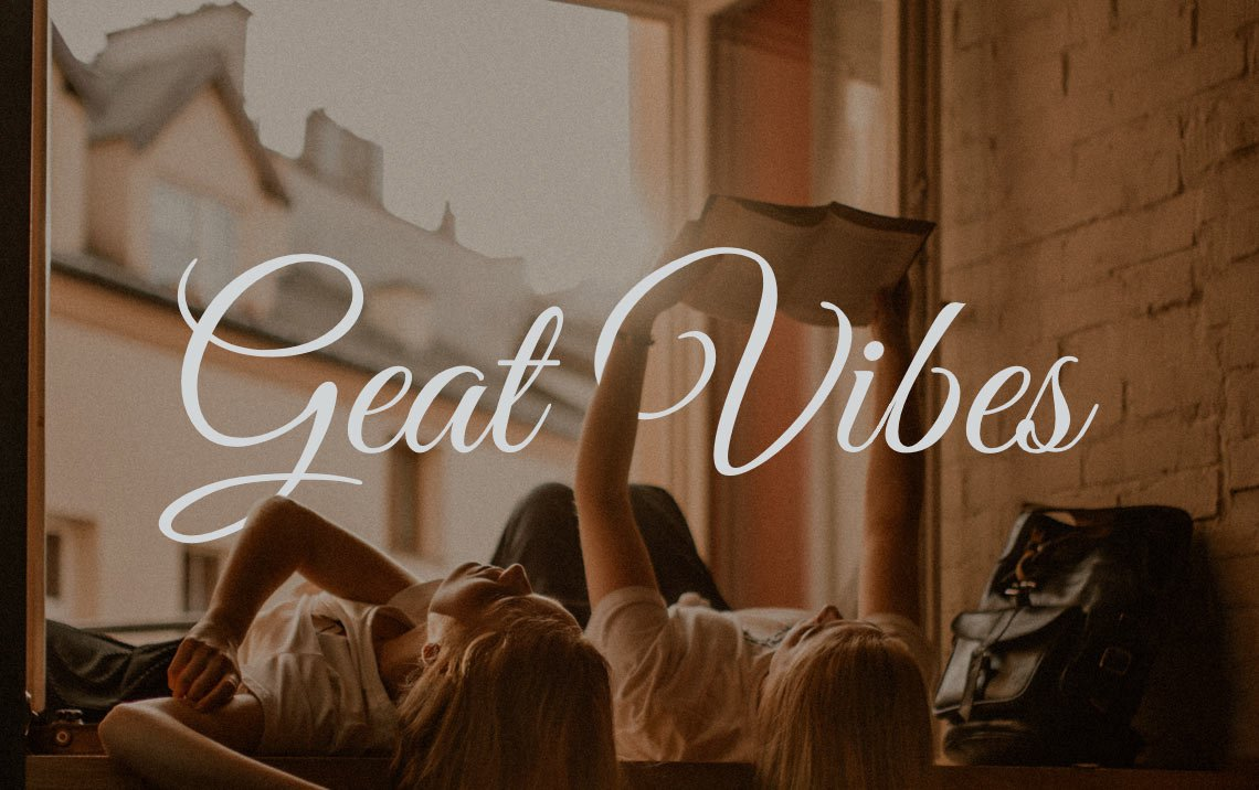 Great Vibes free calligraphy font