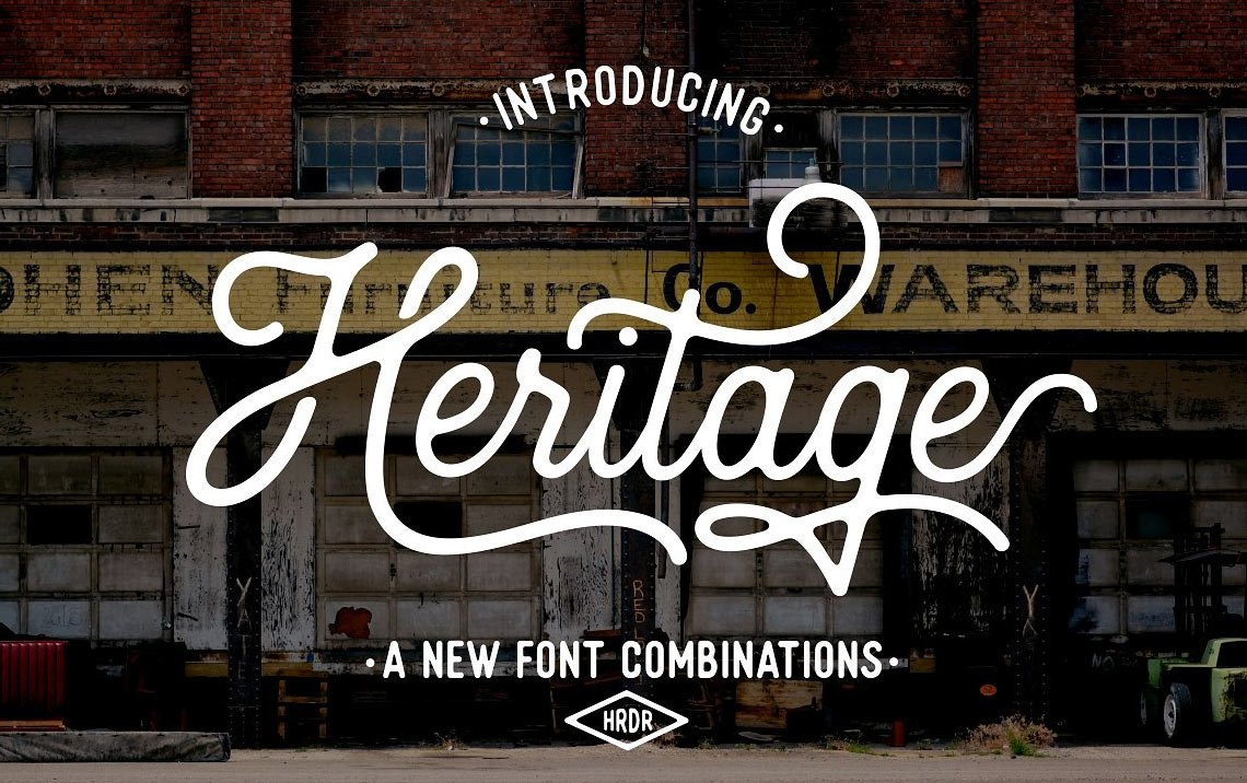 Heritage calligraphy font combinations