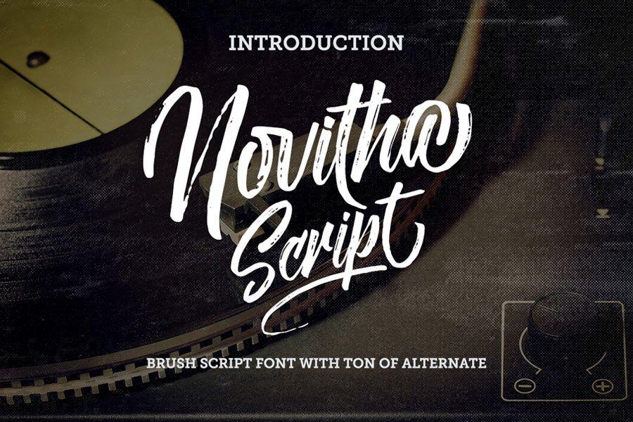 Novitha free calligraphy font