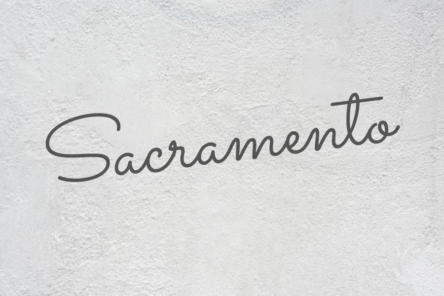 Sacramento free calligraphy font