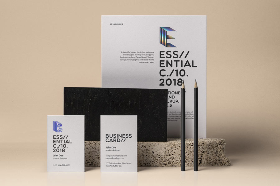 Essential Stationery Psd Mockup Vol. 5