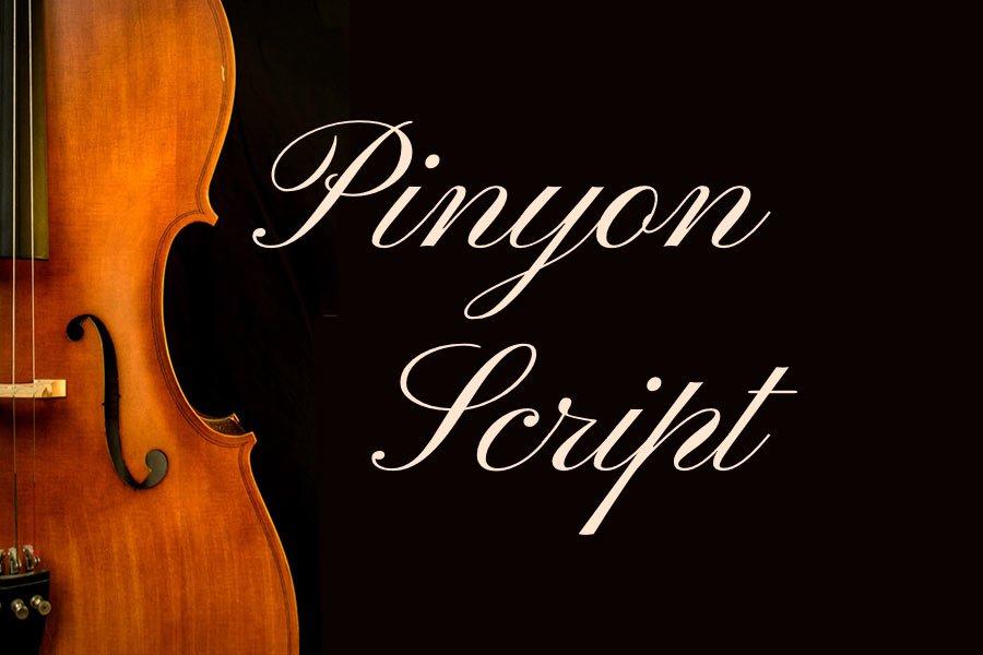 Pinyon Script free calligraphy font