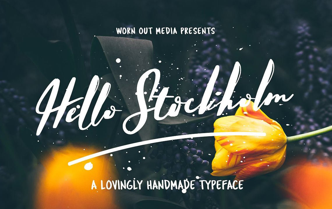 Hello Stockholm free calligraphy font