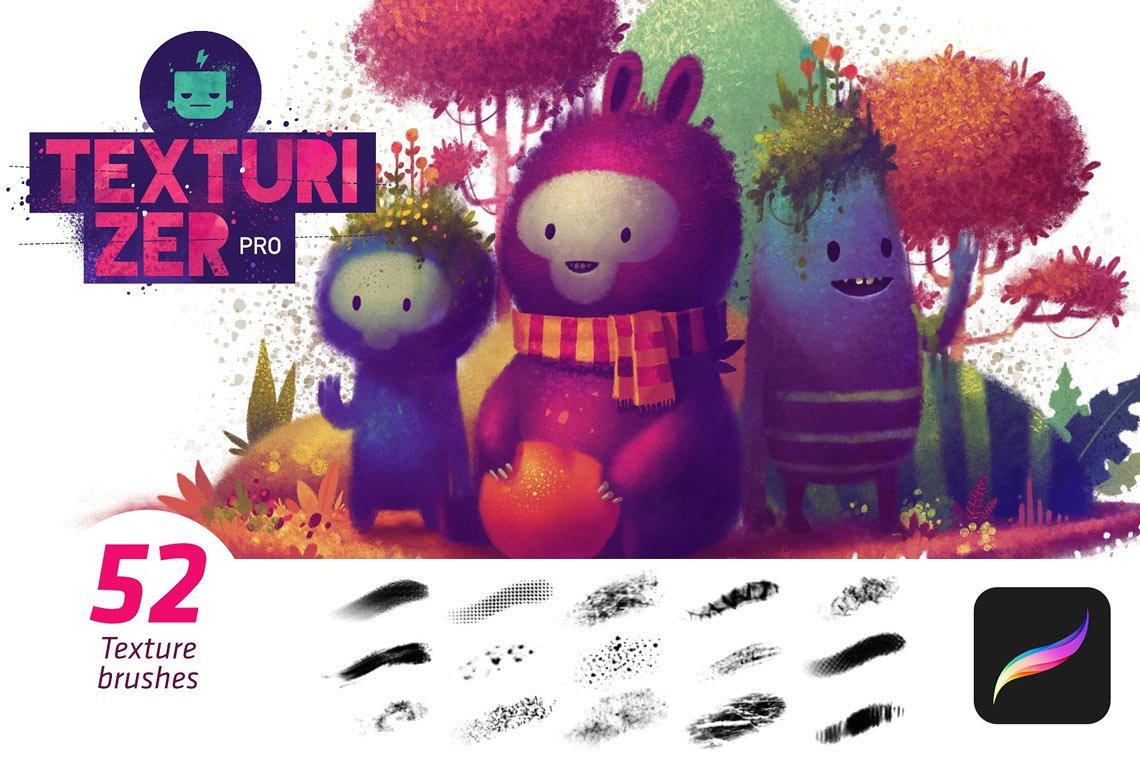 Texturizer Pro - Procreate Brushes by Frankentoon Store