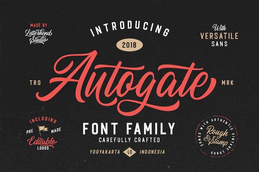 Autogate Font Duo free calligraphy font