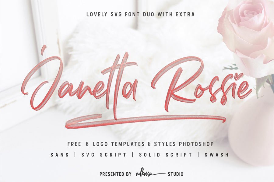 Janetta Rossie Script free calligraphy font
