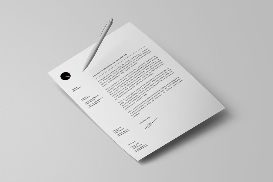 PSD Letterhead Mockup