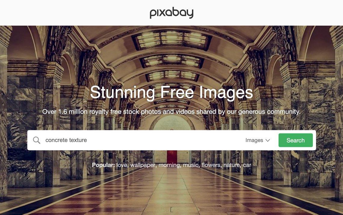 Concrete textures on Pixabay