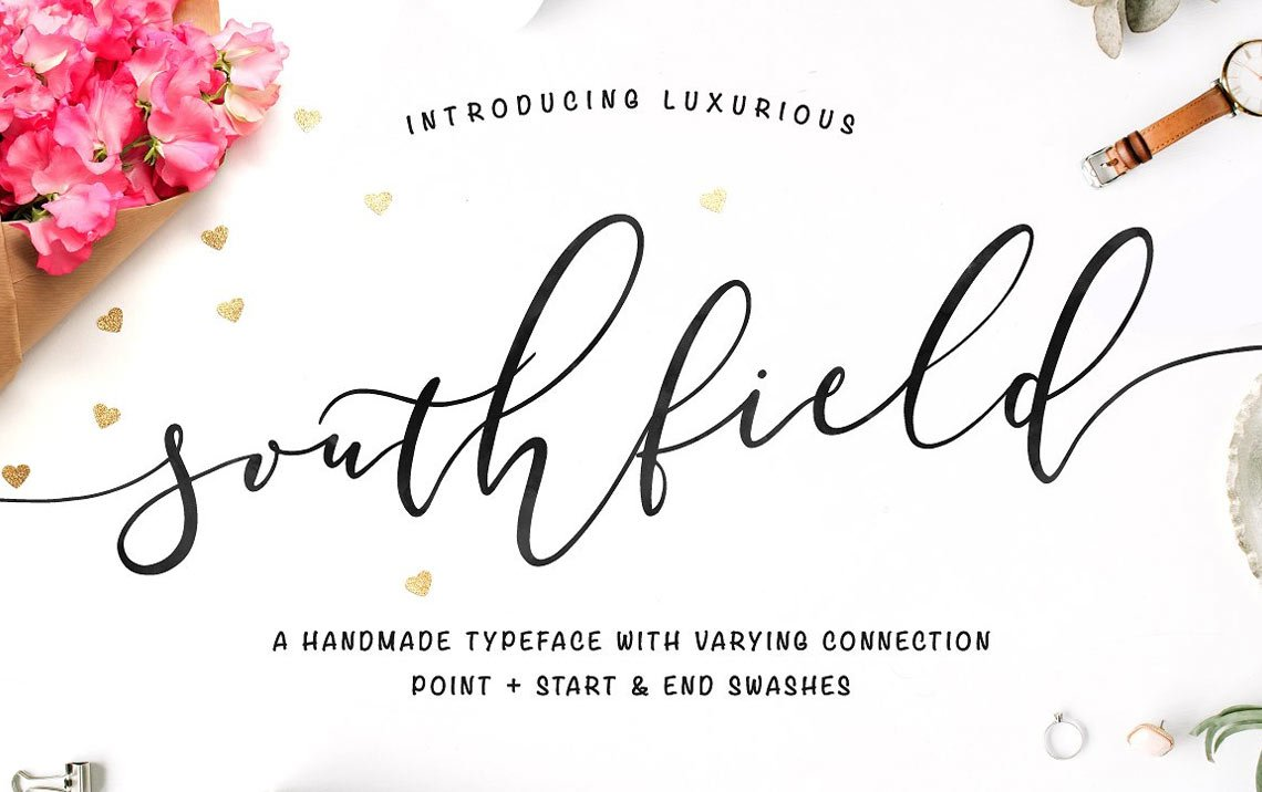 Southfield calligraphy Typeface