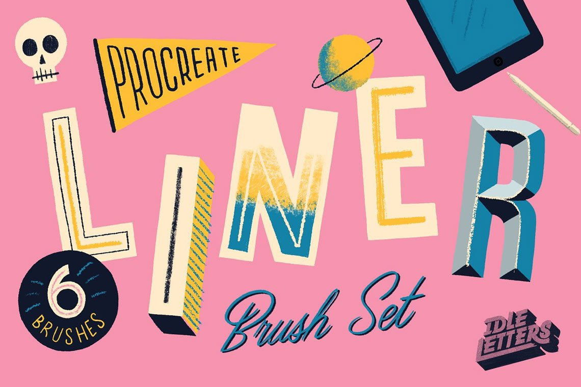 Liner Procreate Brush Set by Idle Letters