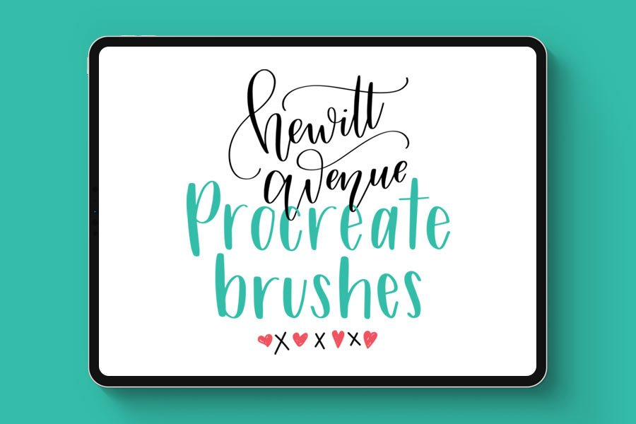 Free Hand Lettering Procreate Brush