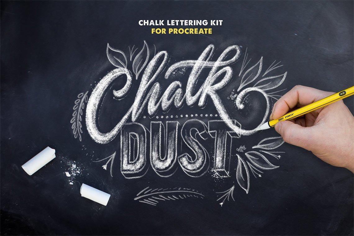 Chalk Dust - Procreate Lettering Kit