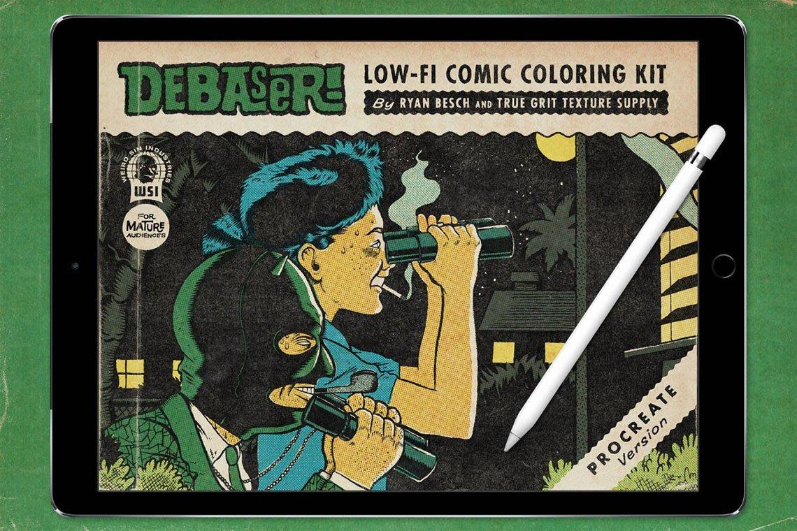 DEBASER Comic Color Kit for Procreate