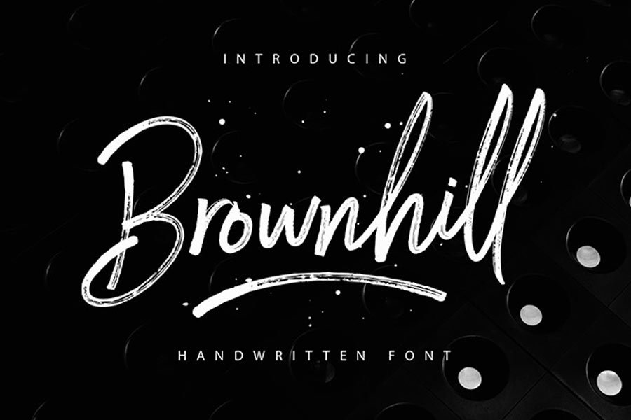 Brownhill free calligraphy font