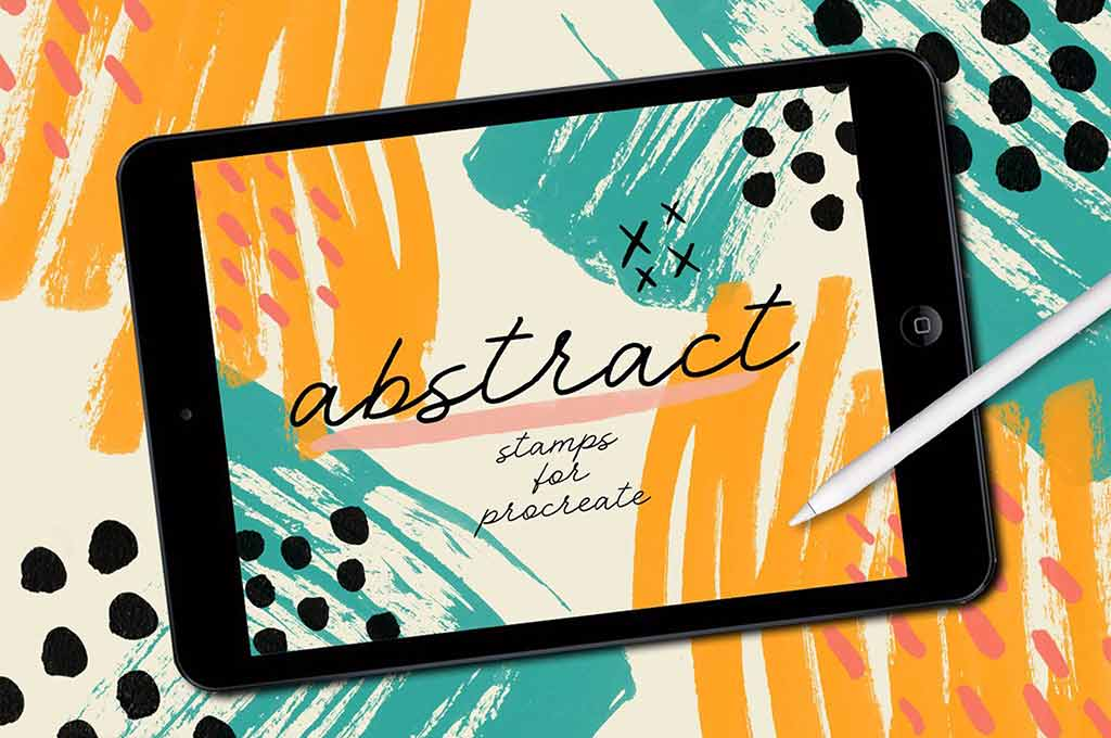 Abstract Stamp Brushes for Procreate