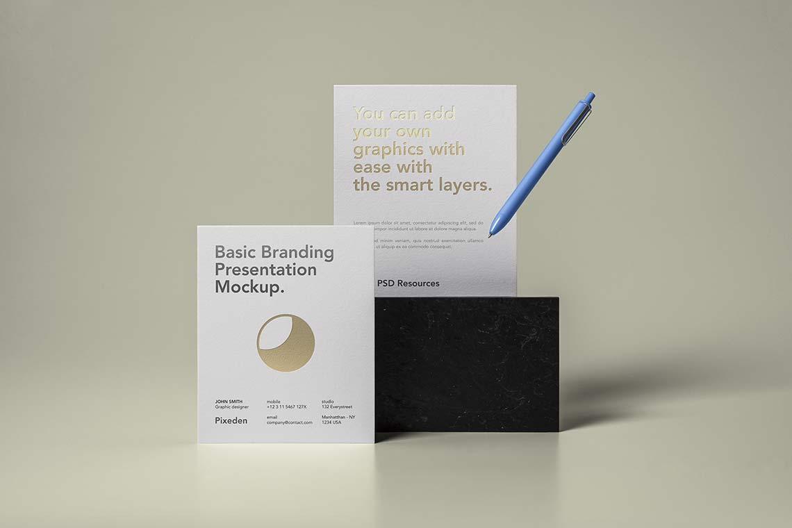Basic Branding Stationery Mockup