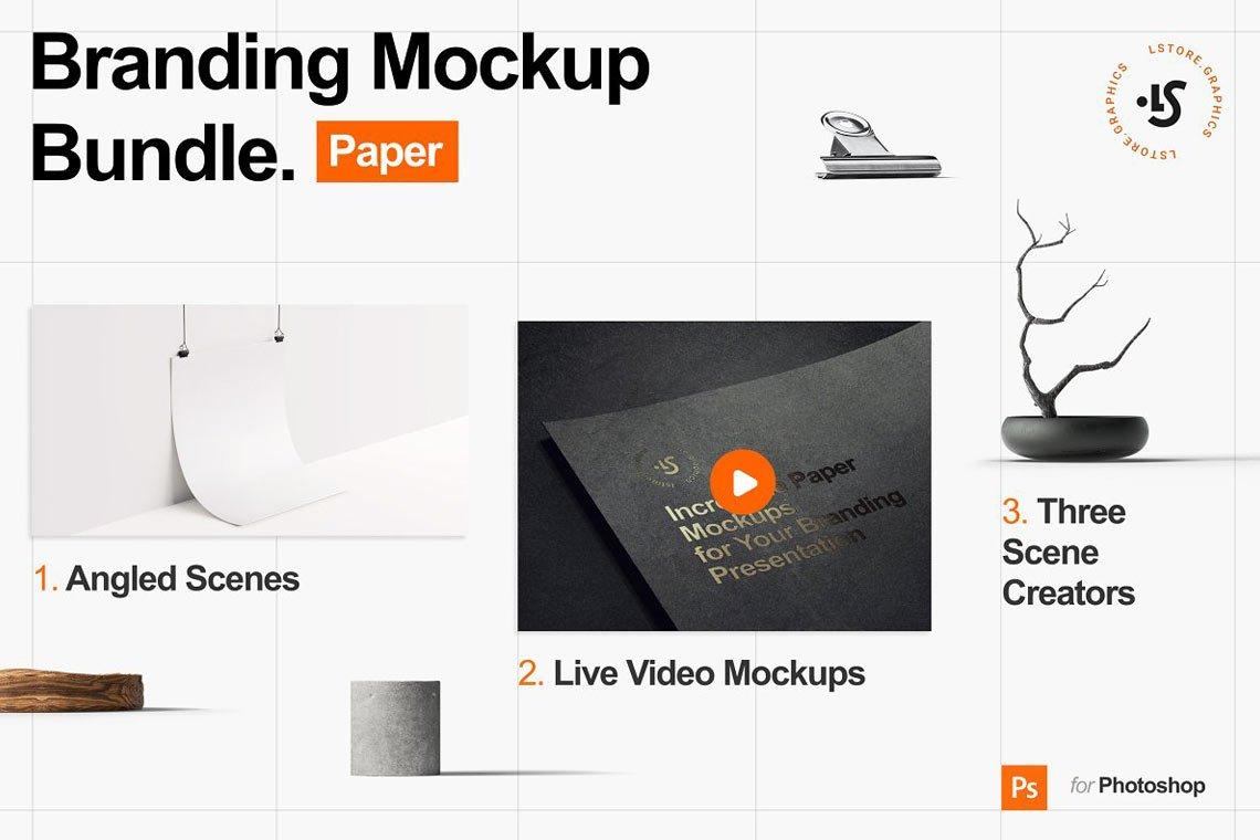 Branding Paper Mockup Bundle