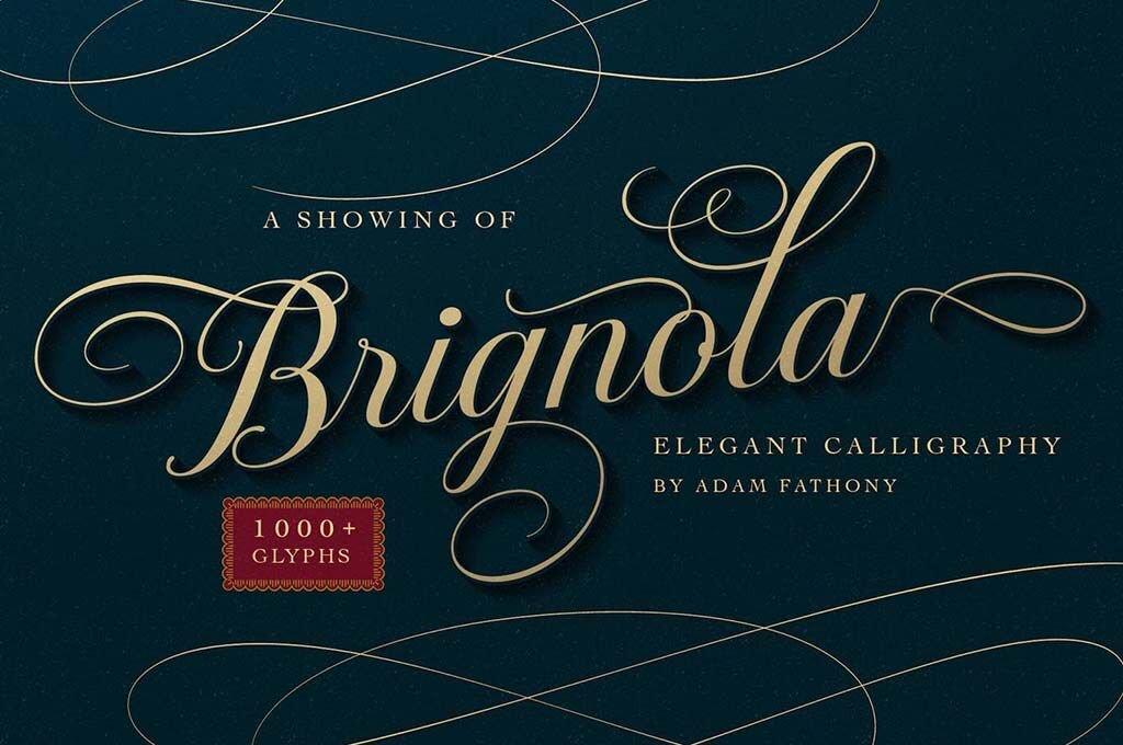 Brignola Elegant Calligraphy Font