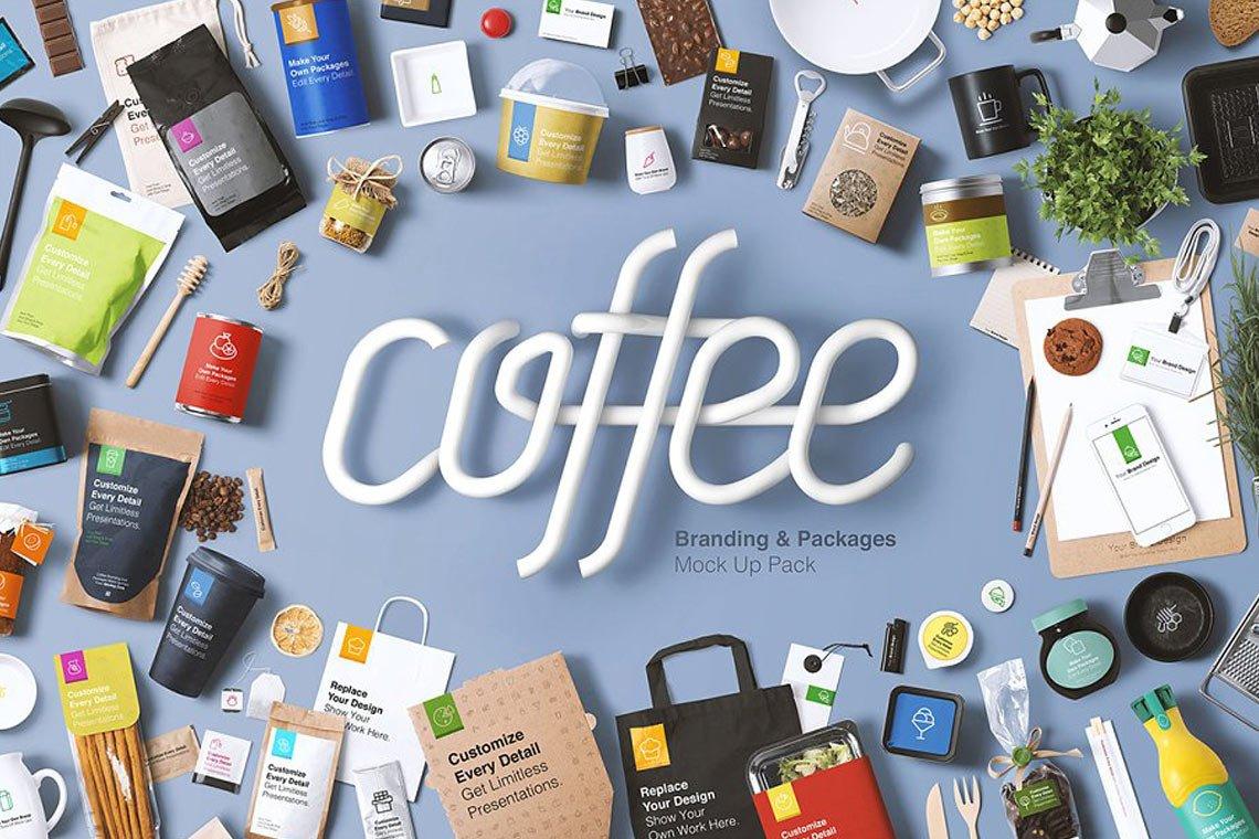 Coffee Branding & Packaging Mockup